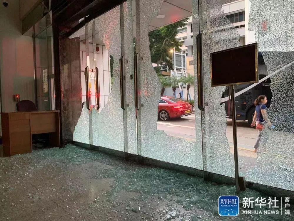 新华社香港分社遭暴徒打砸纵火 内部现场照片曝光