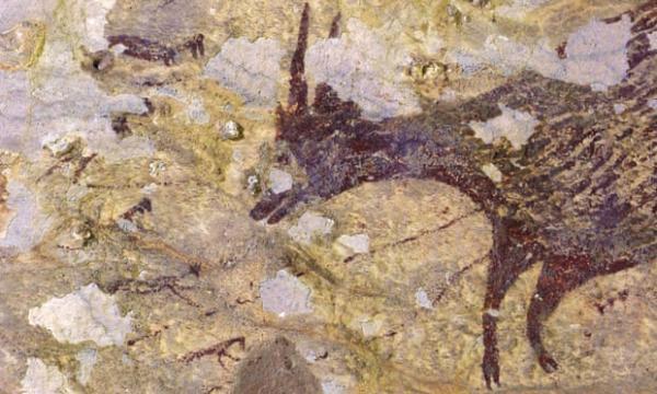 印尼4.4萬年前的史前洞穴壁畫,因工業開發面臨消失威脅